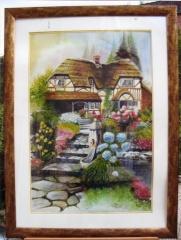 Cottage normand-aquarelle 1