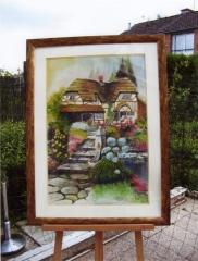 Cottage normand-aquarelle