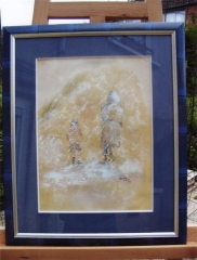 Neige-aquarelle